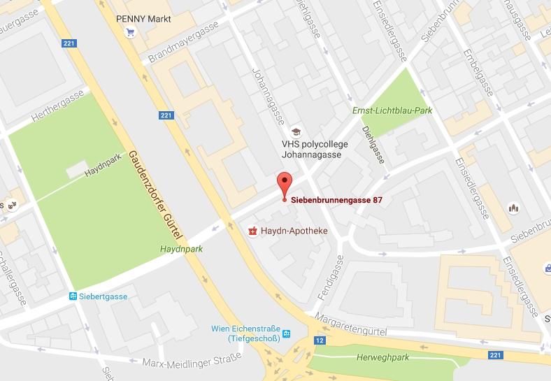 Anfahrtsplan Kargl Installateur Wien